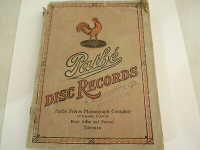 Neat Vintage 1917 Pathe Disc Phonograh Records Toronto Catalog 296 Pages