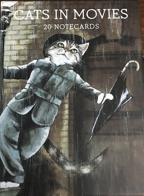 Cats In Movies By Susan Herbert Notecards And Envelopes Set Open Box