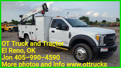 2017 Ford F-550 4wd 4000lb Crane 11ft Mechanics Service Lube Bed 6.7L Diesel