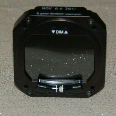RC Allen 2600-3 Digital Attitude Indicator with Inclinometer as removed
