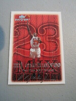 1999-00 Upper Deck MVP MJ Exclusives Silver Script #187 MICHAEL JORDAN