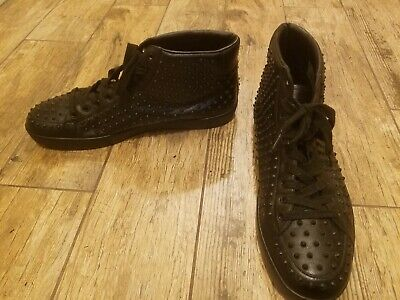 Gucci high top Sneakers Black 322737 Men's size 14.5 14 1/2 Spiked