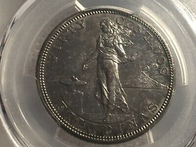 Philippines 1905 S Fifty Cent PCGS 58 nice tone Key