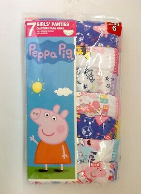 Peppa Pig 7-Pack Girls Panties Size 6 (NWT)