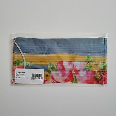 JOHNNY WAS Floral Print Reusable Non-Medical Face Mask Rayon/Cotton