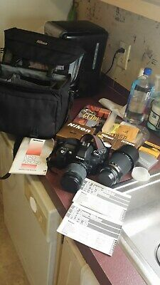 Nikon N80 35mm Camera with 28-80mm & ED 70-300mm Nikkor Lenses & Accessories