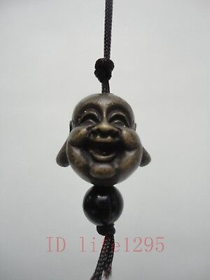 Collected China Tibet Ancient Bronze Carving Buddha Amulet Pendant Decoration