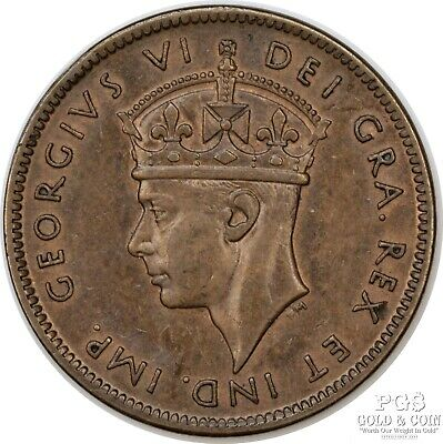 1940 Canada Newfoundland One Cent 1c George VI World Coin 15612