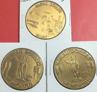 3 $1 HAWAII Dollar Coins Collection of 3 Assorted!