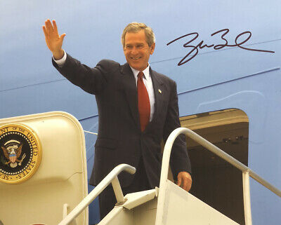 George W Bush AUTHENTIC HAND SIGNED 8x10 Photo President Republican