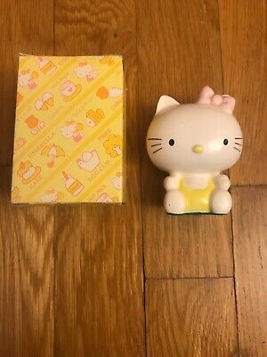 "New Original 1976 Hello Kitty Ceramic Coin Piggy Bank With Box 3"" Tall By Sanrio"