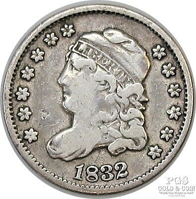 1832 Capped Bust Half Dime H10c Better Date LM-5 R1 US Silver Coin 18986