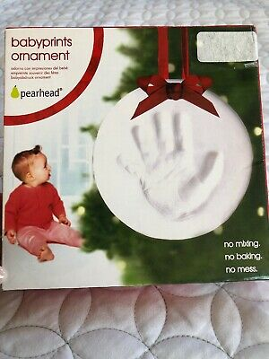 Pearhead Babyprints Babys First Christmas Handprint Footprint Holiday Paw Print
