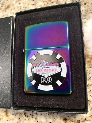 Rare Retired Spectrum Las Vegas 100 year Anniversary  Zippo Lighter