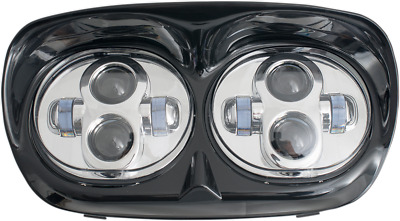 Rivco LED Road Glide Headlight Assembly Black/Chrome LED-145C