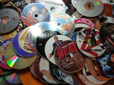 Lot of 200+ DVD Movies, TV Shows, Music CD's Scratched for repair resale crafts