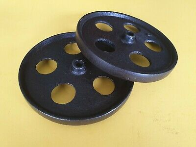 Vintage Two 6 Inch Cast Iron Wheels