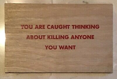 Jenny Holzer 'You Are Caught Thinking...' Silkscreen on Wood Truisms Postcard