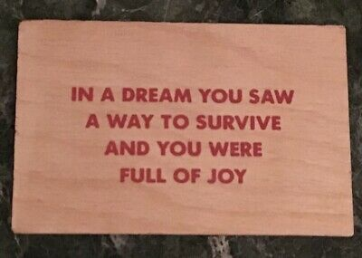 Jenny Holzer 'In A Dream You Saw...' Silkscreen on Wood Truisms Postcard