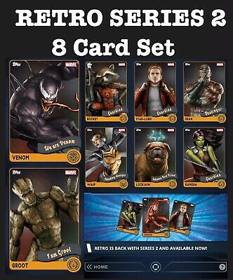 Retro Series 2 Set-8 Cards-Topps Marvel Collect Digital