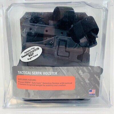 BLACKHAWK Serpa Level 2 Tactical Black Holster, Size 13, Right Hand