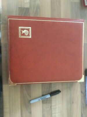 Stamp Stock Book Stamp Album 20 pages 40 sides good quality gold trim