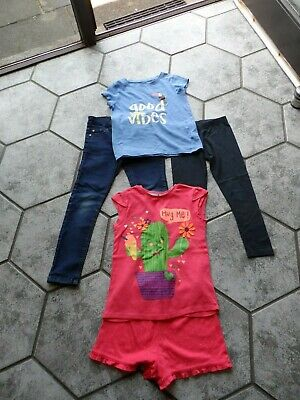 Girls Age 6/7  1 Pr Jeans 1 Pr Leggings 1 Top  1Pr P,Js   Outgrown