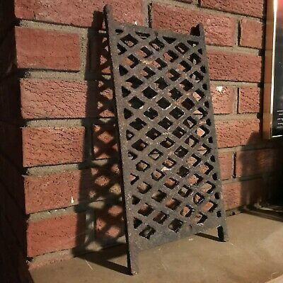 "Antique Rectangle Diamond Pattern Grate Heavy Cast Iron 8X16"" - 3/4"" Thick"
