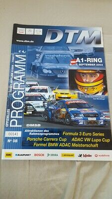 DTM Programmheft Spielberg 2003 A1 Ring VW Lupo Cup Formel 3000 Porsche Carrera