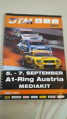 DTM Mediakit Spielberg 2003 A1 Ring VW Lupo Cup Audi Mercedes Opel Programm