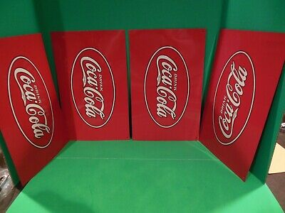 4 Glascock Coca Cola Junior Or Counter  Cooler Tin Insert New Old Stock Embossed