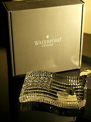 Waterford Crystal American Flag Paperweight Brand New in Box