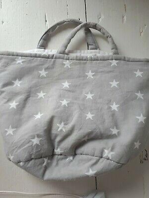 Grey star baby changing bits and bobs bag