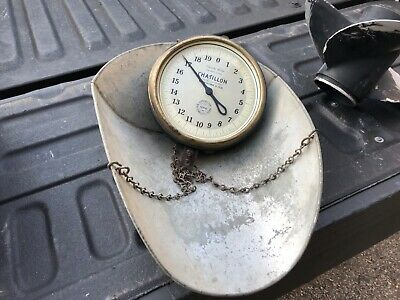 """VINTAGE ANTIQUE CHATILLON 40 lbs HANGING SCALE country store relic 8.25"""" dia"""