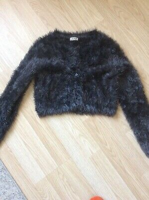 Girls Next Fluffy Cropped Cardigan Age 12 Years