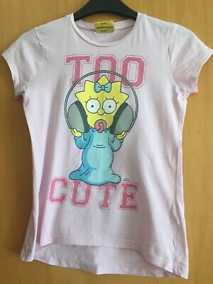 Cute Girls T Shirt, George, Pink, Maggie from Simpsons, age 9-10