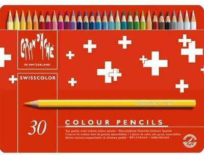 Swisscolor Caran D'ache Water Soluble Colour Pencils X 30