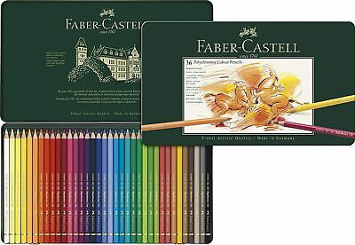 Faber-Castell - Tin of 36 Polychromos Artists' Pencils BRAND NEW FACTORY SEALED