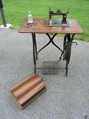 1871 Howe Antique Treadle Sewing Machine SN #252014