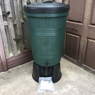 210L Garden Barrel Water Butt Set With Tap, Stand & Filler Kit Patio Unused