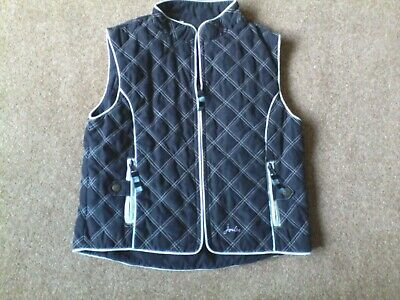 Boys clothes.  Navy/white Joules zip up quilted body warmer Age 7/8