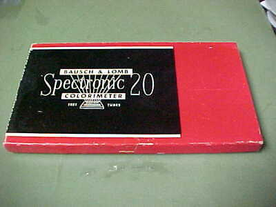 Bausch & Lomb Spectronic 20   Colorimeter  Test Tubes With Original Case <Nr>