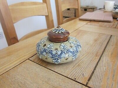 Excellent Condition Doulton Artware Stoneware Inkwell
