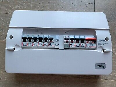 Tenby 10 Way Consumer Unit With 100a Switch Dual 30mA RCD With MCBs