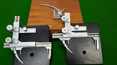 2 x Leitz Wetzlar Mechanical Stage for Microscope Parts / Accessories Lab
