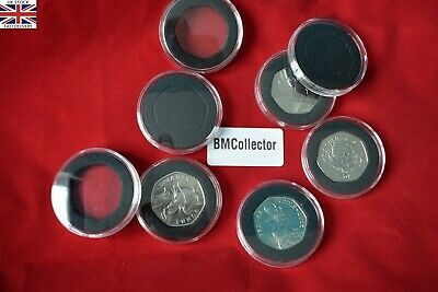 Coin Capsules 38mm with Insert for 50p coins(10,20,30,45,60 pcs)