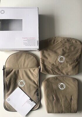 BUGABOO CAMELEON 1 2 3 FLEECE COVERS/FABRICS in SAND/ BEIGE -3 pieces BOXED