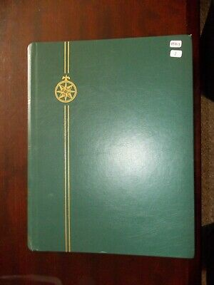 64 Sided Large Green Compass Stock Book, Used, in V Nice Condition. Black Pages.
