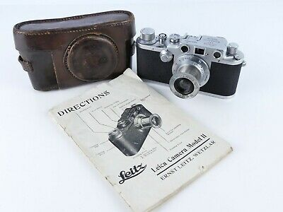 Leica Iiic 35Mm Film Rangefinder Camera With Elmar 5Cm F3.5 Ltm Screw 50Mm Lens