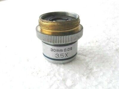 Bausch & Lomb  Microscope Objective Lens 30mm 0.09 3.5x